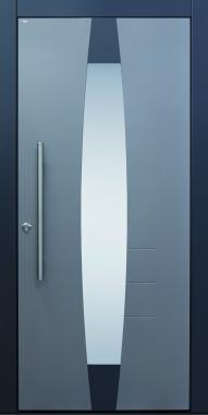 Haustür modern, grau und anthrazit, Current A403-T1, Glas
