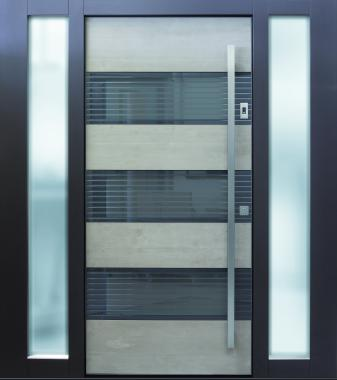 Haustür front door Current B17 T3 mit zwei Seitenteilen ST-G100 und Stockverbreiterung www.topic.at