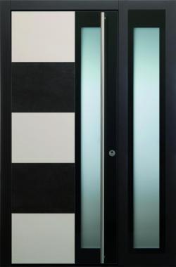 Haustür modern anthrazit, beige, Keramik, Sicherheitstür, passivhaustauglich, TOPICcore, besser als alu