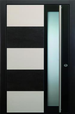 Haustür modern anthrazit, weiß, Keramik, Sicherheitstür, passivhaustauglich, TOPICcore, besser als alu