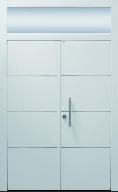 Haustür modern, weiß, Topiccore, Sicherheitstür, passivhaustauglich besser als alu, Glas
