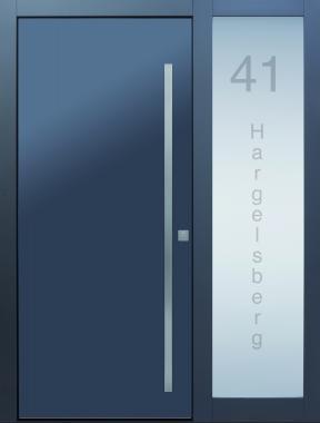 Haustür front door Current Pure T2 mit verglastem Türblatt und Seitenteil ST-B1 - sandgestrahlte Adresse auf Kundenwnsch www.topic.at