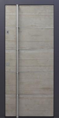 Haustür modern, Echtbeton, Beton, Sicherheitstür, passivhaustauglich, besser als Alu, Fingerprint