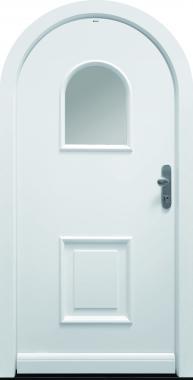 Haustür front door Classic T1-Sonder mit Segmentbogen und Rahmen G100 www.topic.at