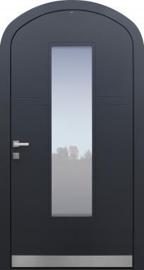 Haustür anthrazit mit Korbbogen Modell A483-T1