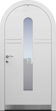 Haustür weiß mit Rundbogen Modell A483-T1
