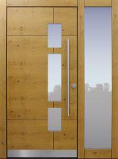 Haustür modern, Holz, Eiche, Seitenteil, Sicherheitstür, passivhaustauglich, besser als alu, Glas