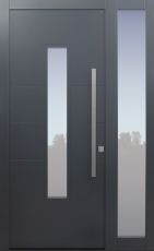 Haustür modern, anthrazit, Topiccore, Seitenteil, Sicherheitstür, besser als alu, Glas