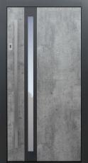 Haustür modern, TOPICcore, Exterior, grau, Sicherheitstür, passivhaustauglich, besser als Alu, Glas, Fingerprint