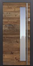 Haustür modern, Holz, Fichte, Altholz Fichte, Sicherheitstür, passivhaustauglich, besser als Alu, Glas, Fingerprint