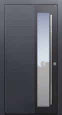 Haustür modern, TOPICcore, Anthrazit, Dunkelgrau, Sicherheitstür, passivhaustauglich, besser als Alu, Glas, Fingerprint