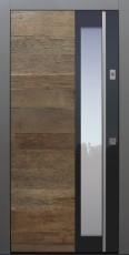 Haustür modern, Holz, Eiche, Altholz Eiche, Sicherheitstür, passivhaustauglich, besser als Alu, Glas, Fingerprint