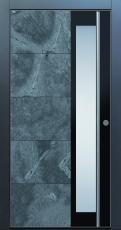 Haustür modern, anthrazit, Echtstein, Stein, Himalayastein, Edelstahl, Sicherheitstür, passivhaustauglich, TOPICcore, besser als Alu, Glas