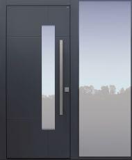 Haustür modern, TOPICcore, anthrazit, dunkelgrau, Sicherheitstür, passivhaustauglich, besser als Alu, Glas, Seitenteil