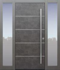 Haustür modern, TOPICcore, Exterior, Sicherheitstür, passivhaustauglich, besser als Alu, Glas, Seitenteil