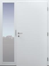 Haustür modern, weiß, Topiccore, Seitenteil, Sicherheitstür, passivhaustauglich besser als alu, Glas