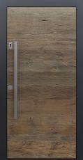 Haustür modern, Holz, Eiche, Altholz Eiche, Fingerprint, Sicherheitstür, passivhaustauglich, besser als Alu