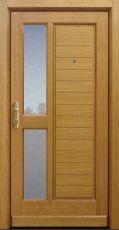 Haustür klassisch, Eiche, Holz, Sicherheitstür, passivhaustauglich, besser als Alu, Glas, Türspion