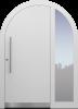 Haustür modern, weiß Topiccore, Edelstahl, Sicherheitstür, passivhaustauglich, besser als Alu, Glas