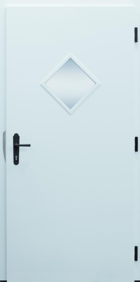 Haustür, Landhaus klassisch rustikal, Raute, Sicherheitstür, besser als Alu, Glas