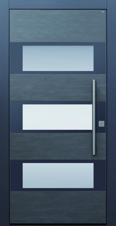 Haustür dunkelgrau anthrazit Keramik Sicherheitstür passivhaustauglich Glas Lichtausschnitt