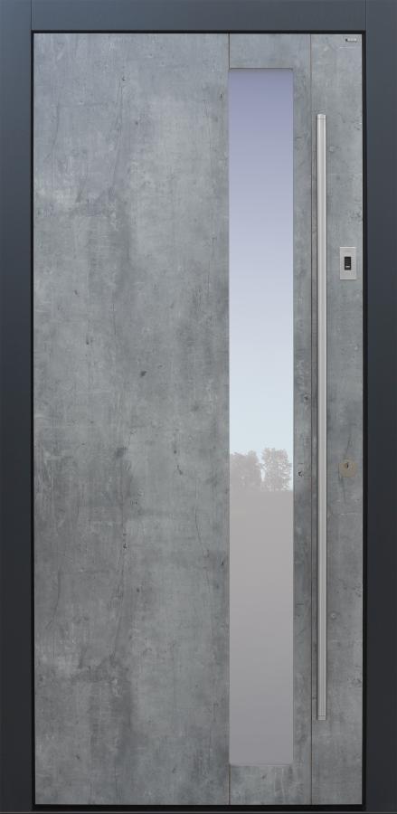 Haustür modern, Exterior, Skyline, Sicherheitstür, passivhaustauglich, besser als Alu, Glas
