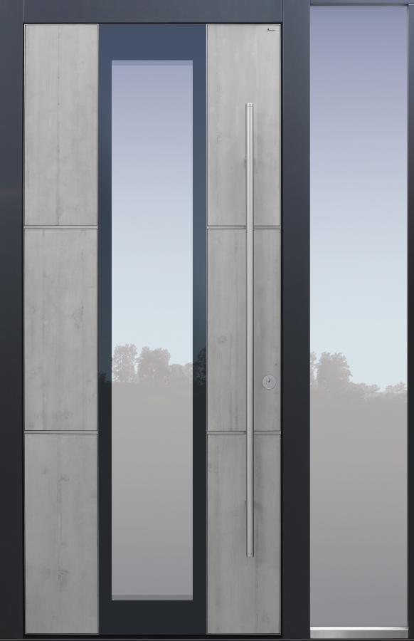 Haustür modern, Beton, Echtbeton, Sicherheitstür, passivhaustauglich, besser als Alu, Glas, Seitenteil