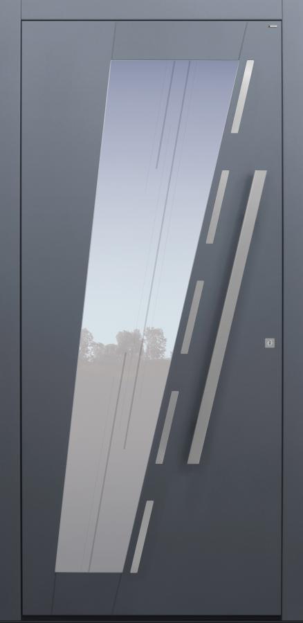Haustür anthrazit mit Glasmotiv MS10 Modell B67-T2