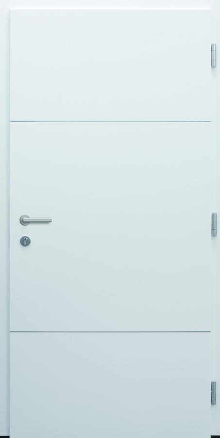 Haustür modern, weiß, TOPICcore, Sicherheitstür, besser als Alu